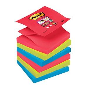 Post-it® Super Sticky Bora-Bora Haftnotizen extrastark R3306SJ farbsortiert 6 Blöcke