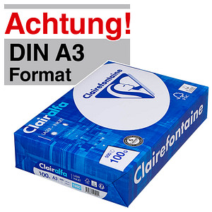 Clairefontaine Kopierpapier Clairalfa DIN A3 100 g/qm 500 Blatt