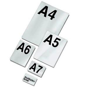 LMG Laminierfolien-Set glänzend für A4, A5, A6, A7, Kreditkartenformat cm