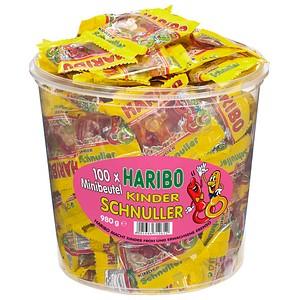 HARIBO KINDER SCHNULLER Minibeutel Fruchtgummi 100 St.