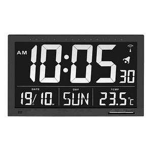 TFA® digitale Funkwanduhr 60.4505 schwarz