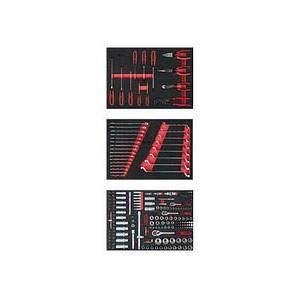 KS TOOLS® Werkzeugwagen-Einlage mit Werkzeug 3x Systemeinlagen mit 215 Premium-Werkzeugen