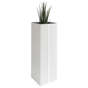 CP Pflanzkübel Metall 40,0 x 40,0 x 131,0 cm weiß