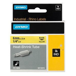 DYMO Schrumpfschlauch 18052 schwarz auf gelb 6 mm