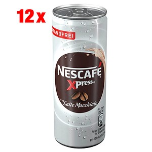 NESCAFÉ Xpress Latte Macchiato Kaffeegetränk Kaffee 12x 0,25 l