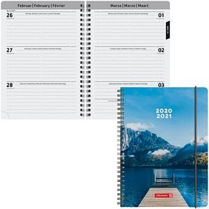 BRUNNEN Schülerkalender Pier Juli 2020 - Dezember 2021 blau