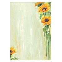 Briefpapier mit Sonnenblumen-Motiv
