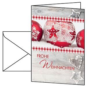 25 SIGEL Weihnachtskarten Winter Feeling DIN A6 DS053