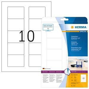 HERMA Disketten-Etiketten 4353 weiß 25 Blatt