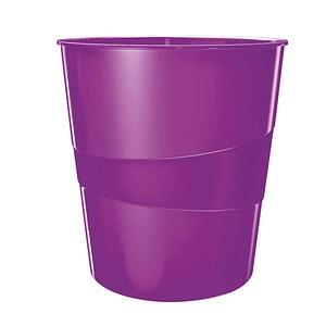 LEITZ 5278 Papierkorb 15,0 l violett metallic