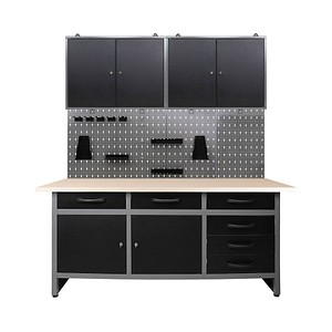 Ondis24 Werkbank-Set grau 160,0 x 60,0 cm