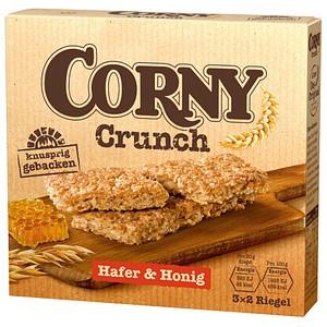 CORNY Crunch Hafer & Honig Müsliriegel 6 Riegel