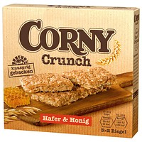 6 CORNY Müsliriegel Crunch Hafer & Honig