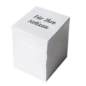 neutral 1.000 Blatt Notizzettel weiß