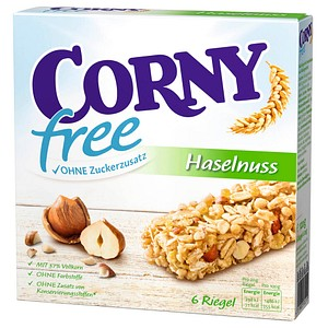 CORNY free Haselnuss Müsliriegel 6 Riegel
