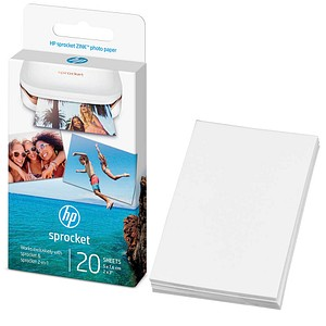HP Sprocket ZINK® weiß Fotopapier 20 Blatt W4Z13A