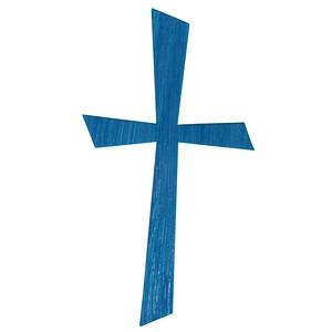 Rayher Wachsmotiv Kreuz blau 1 Pack 31612374