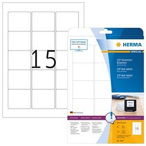 HERMA Disketten-Etiketten 5087 weiß 25 Blatt