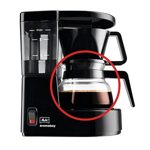 Melitta Typ 1 Glaskanne für Kaffeemaschinen