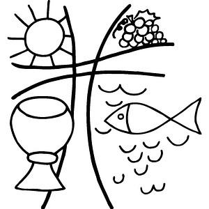 Rayher christliches Motiv Motivstempel Kelch/Fisch 2862200