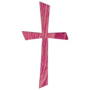 Rayher Wachsmotiv Kreuz pink 1 St. 31612264