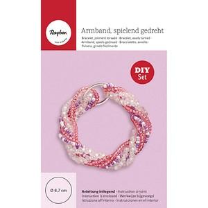 Rayher Schmuck-Basteln-Set Armband gedreht rosa