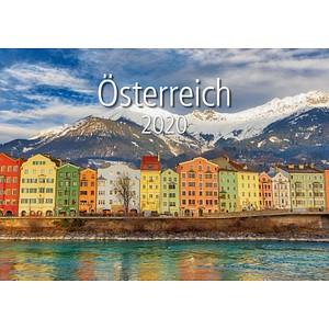 neutral Monats-Wandkalender Österreich 2020