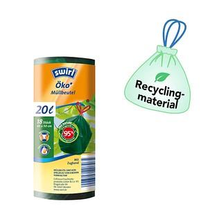 18 swirl® Zugband-Müllbeutel Öko-Müllbeutel 20 l