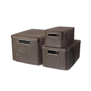 curver STYLE Aufbewahrungsboxen braun 44,5 x 33,0 x 24,8 cm
