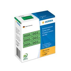 3x1.000 HERMA Aufklebernummern 4805 nummeriert von 0-999