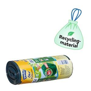 12 swirl® Zugband-Müllbeutel Öko-Müllbeutel 35 l