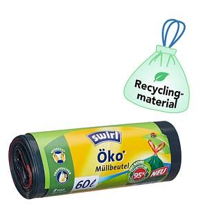 8 swirl® Zugband-Müllbeutel Öko-Müllbeutel 60 l
