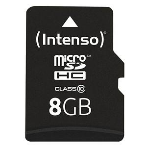Intenso Speicherkarte microSDHC-Card Class 10 8 GB