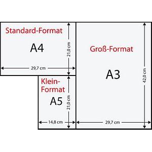 Rainbow Kopierpapier COLOURED PAPER blau DIN A3 80 g/qm 500 Blatt