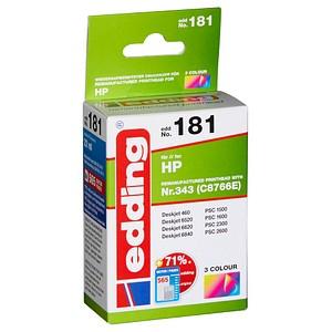 edding EDD-181 color Tintenpatrone ersetzt HP 343 (C8766EE)