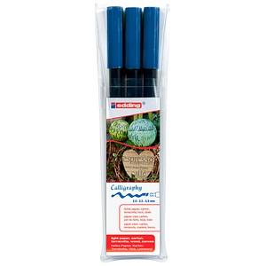 3 edding calligraphy pen 1255 Filzstifte blau 4-1255-3-017