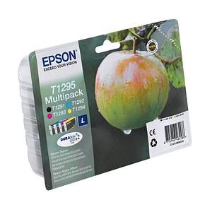 4 EPSON T1295L schwarz, cyan, magenta, gelb Tintenpatronen