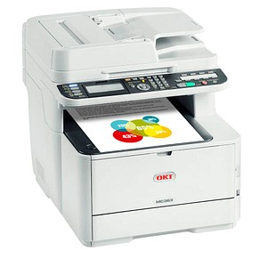 OKI MC363dn 4 in 1 Farblaser-Multifunktionsdrucker grau 46403502