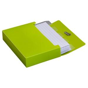 M&M Karteibox DIN A7 für 100 Karteikarten lime-green mit Deckel