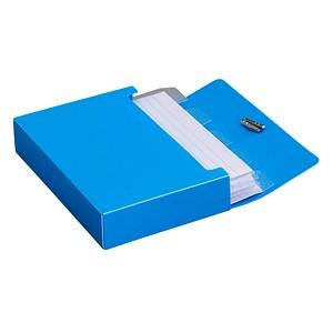 M&M Karteibox DIN A7 für 100 Karteikarten ocean-blue mit Deckel