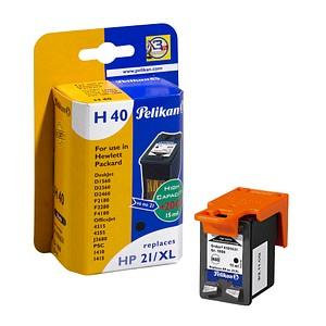 Pelikan H40 schwarz Tintenpatrone ersetzt HP 21XL (C9351AE)