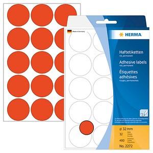 Markierungspunkte 32,0 mm in rot von HERMA