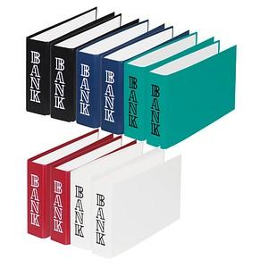 10 DONAU Bankordner farbsortiert Kunststoff 4,5 cm DIN A6 quer