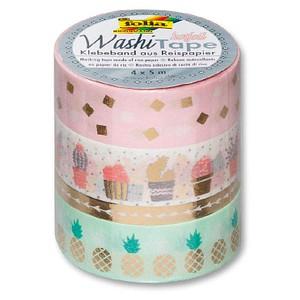 Bastelbänder Washi Tape HOTFOIL von folia