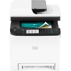 RICOH M C250FWB 4 in 1 Farblaser-Multifunktionsdrucker grau 947372