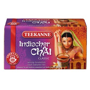 TEEKANNE Indischer Chai Tee 20 Teebeutel à 2,0 g