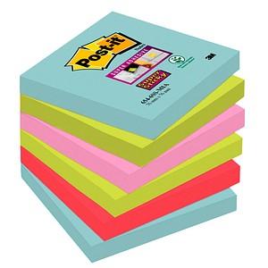 Post-it® Super Sticky Miami Haftnotizen extrastark farbsortiert 6 Blöcke