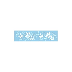 Rayher Dekor-Schablone Blätter-Bordüre blau 3846700
