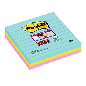 Post-it® Super Sticky Miami Haftnotizen extrastark farbsortiert 3 Blöcke