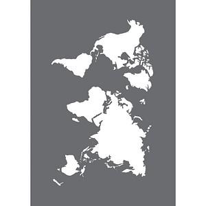Rayher Siebdruckschablone Weltkarte grau 45100000